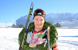30.01.2016, Bad Mitterndorf, AUT, 37. Internationaler Steiralauf, 50 km Freie Technik, im Bild der Sieger Alexander Brandner (AUT) // winner Alexander Brandner of Austria in the finish area of the 37th international Steiralauf 50 km Freestyle in Bad Mitterndorf, Austria on 2016/01/30. EXPA Pictures © 2016, PhotoCredit: EXPA/ Martin Huber